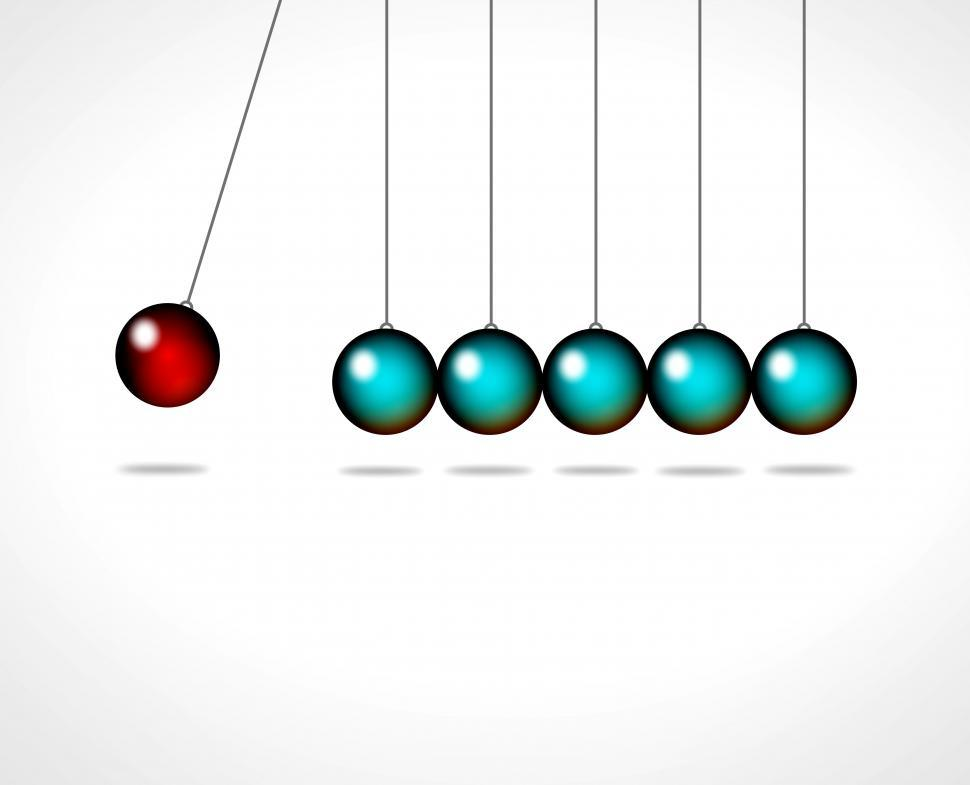 Download Free Stock Photo of Action and reaction - Go viral concept with Newtons cradle