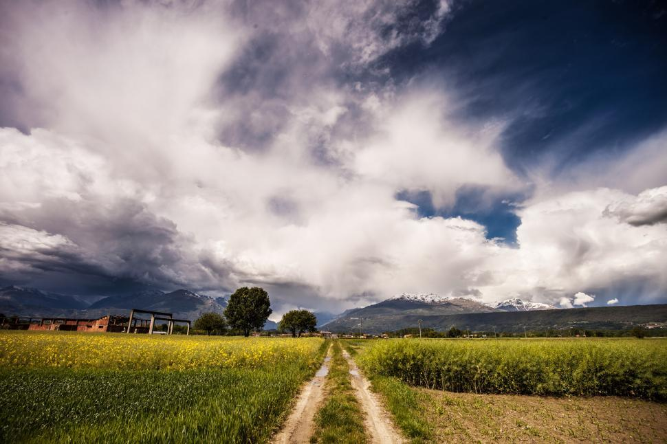 Download Free Stock Photo of  Grey and white clouds