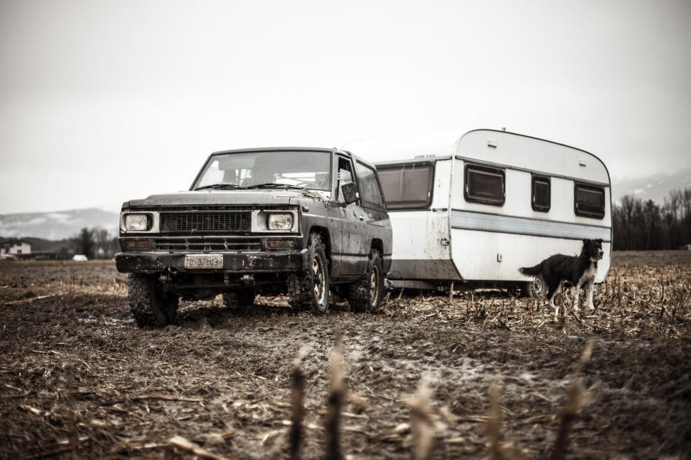 Download Free Stock HD Photo of Caravan or recreational vehicle Online
