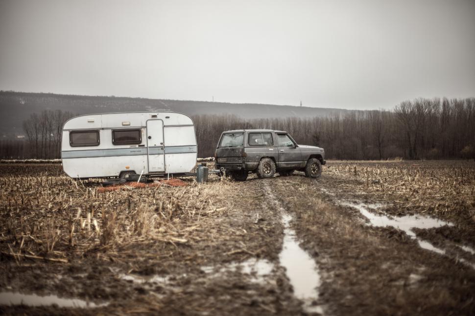 Download Free Stock Photo of Caravan or recreational vehicle
