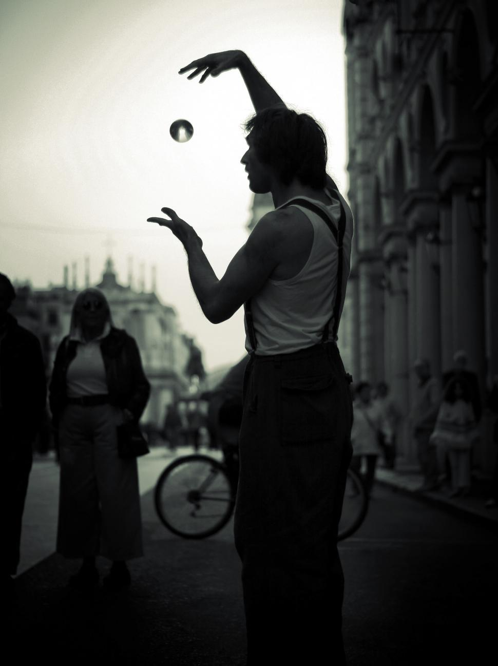 Download Free Stock Photo of Street magician