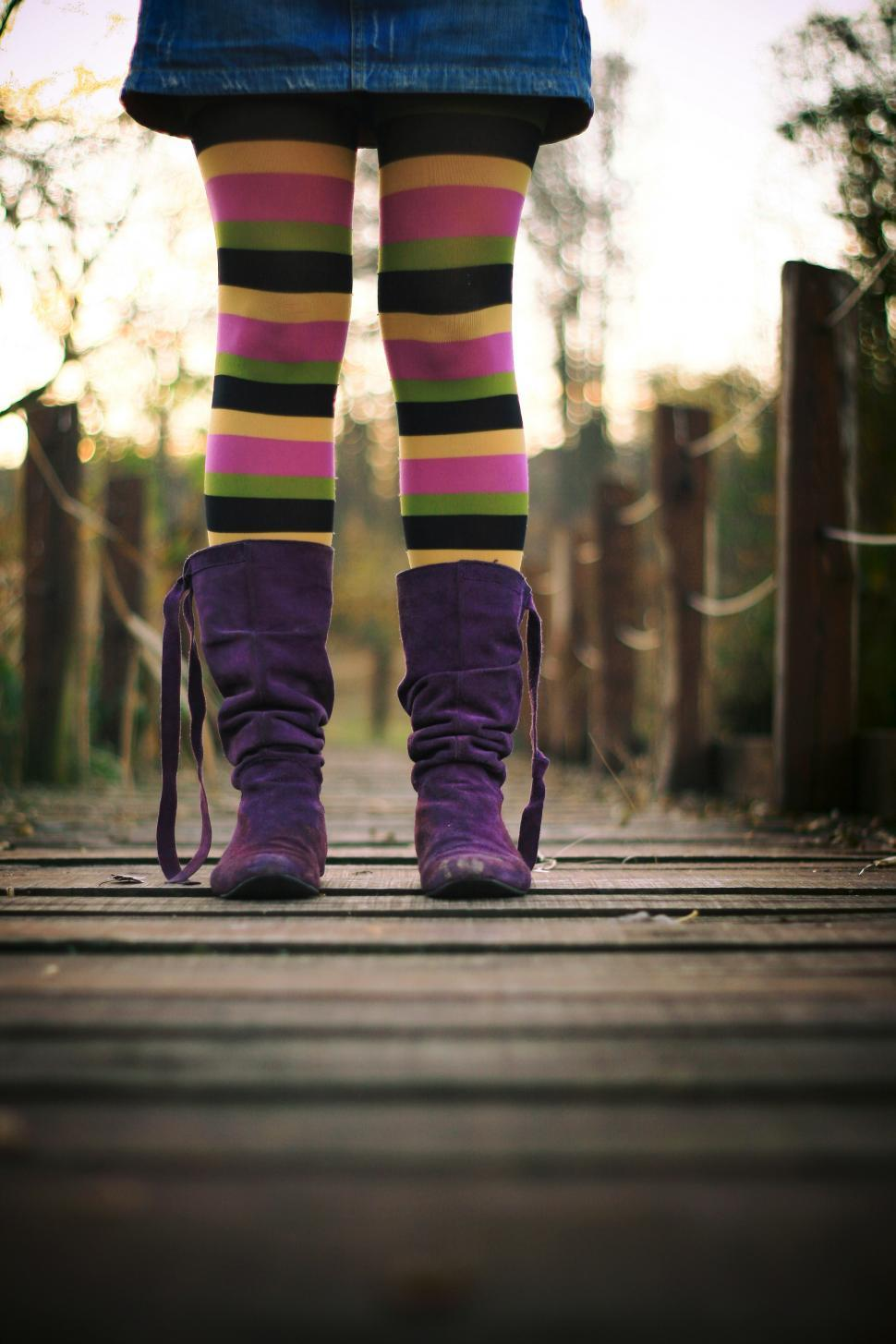 Download Free Stock HD Photo of Purple female boots Online