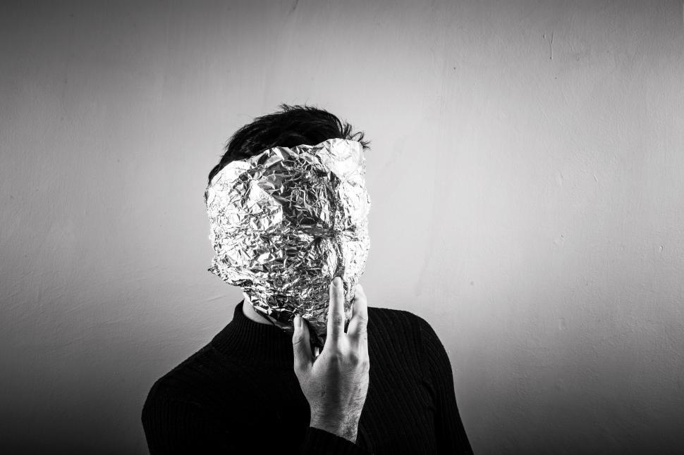 Download Free Stock HD Photo of Foil covered face Online