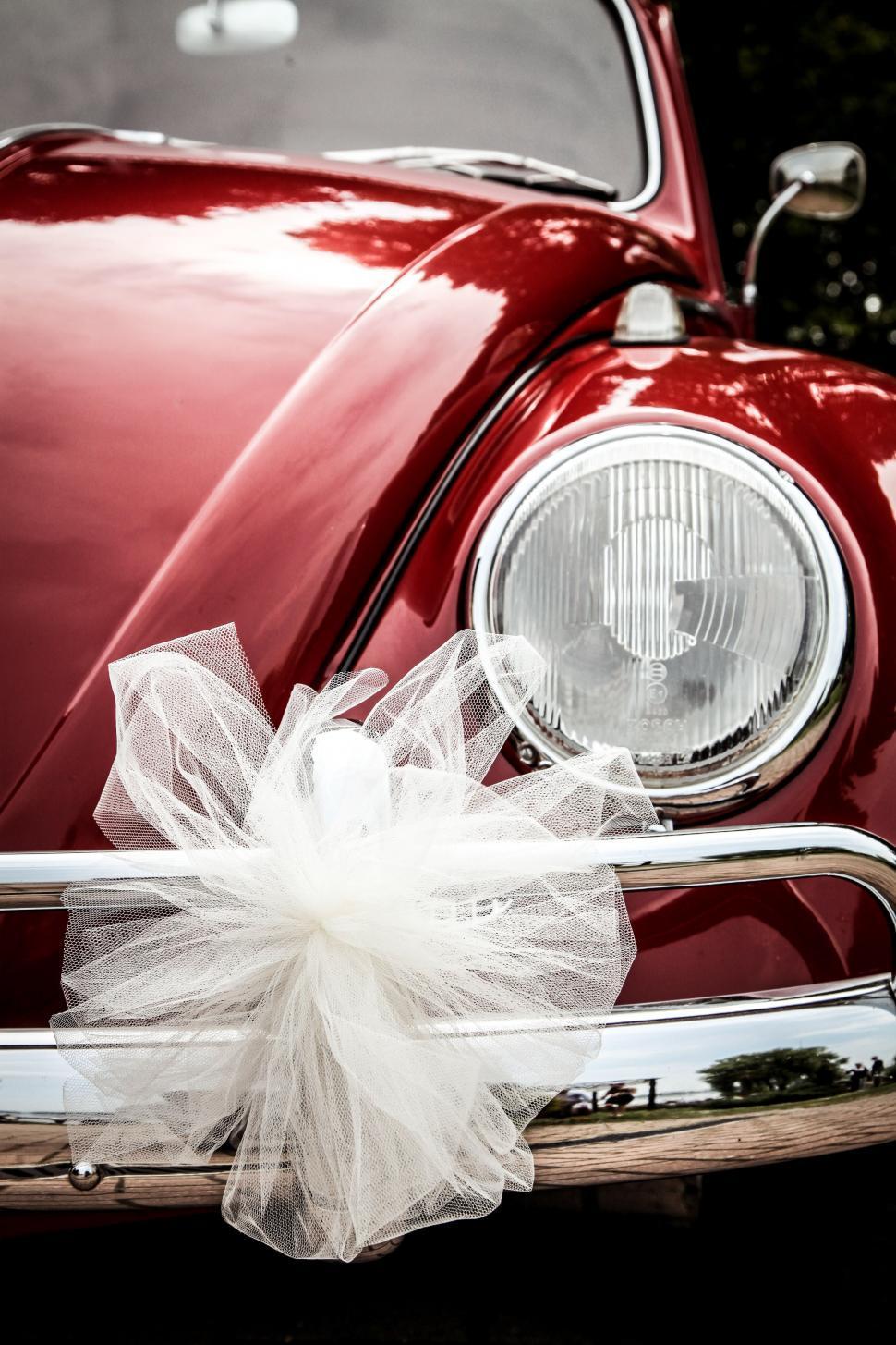 Download Free Stock Photo of Vintage wedding car