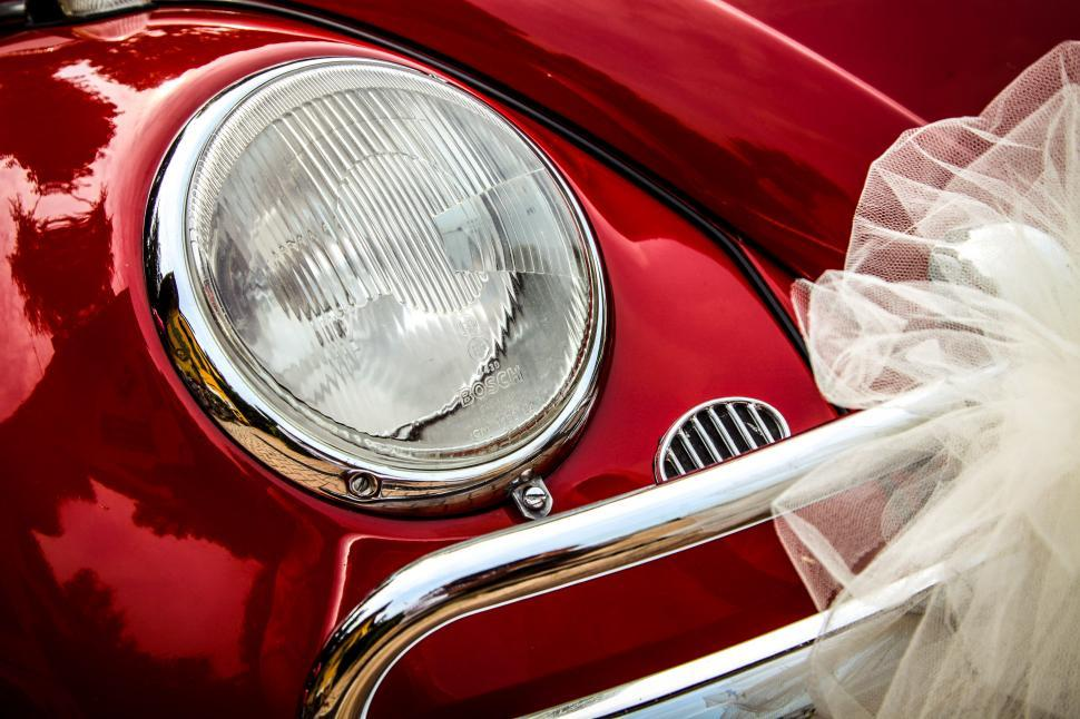 Download Free Stock Photo of Vintage wedding car