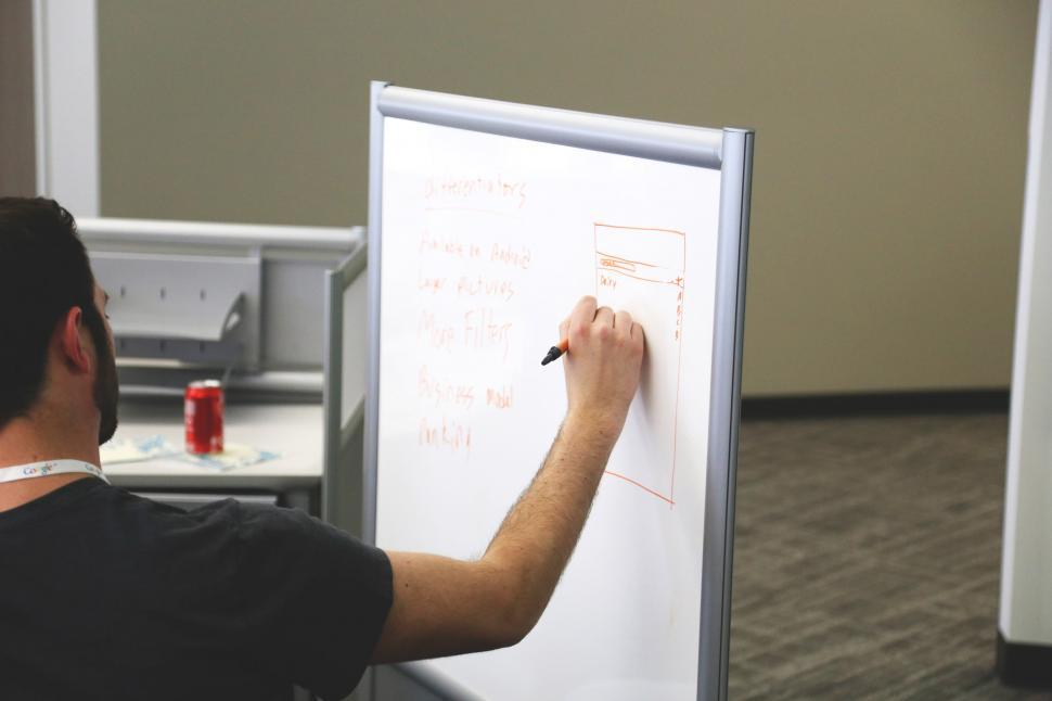 Download Free Stock Photo of Design on whiteboard