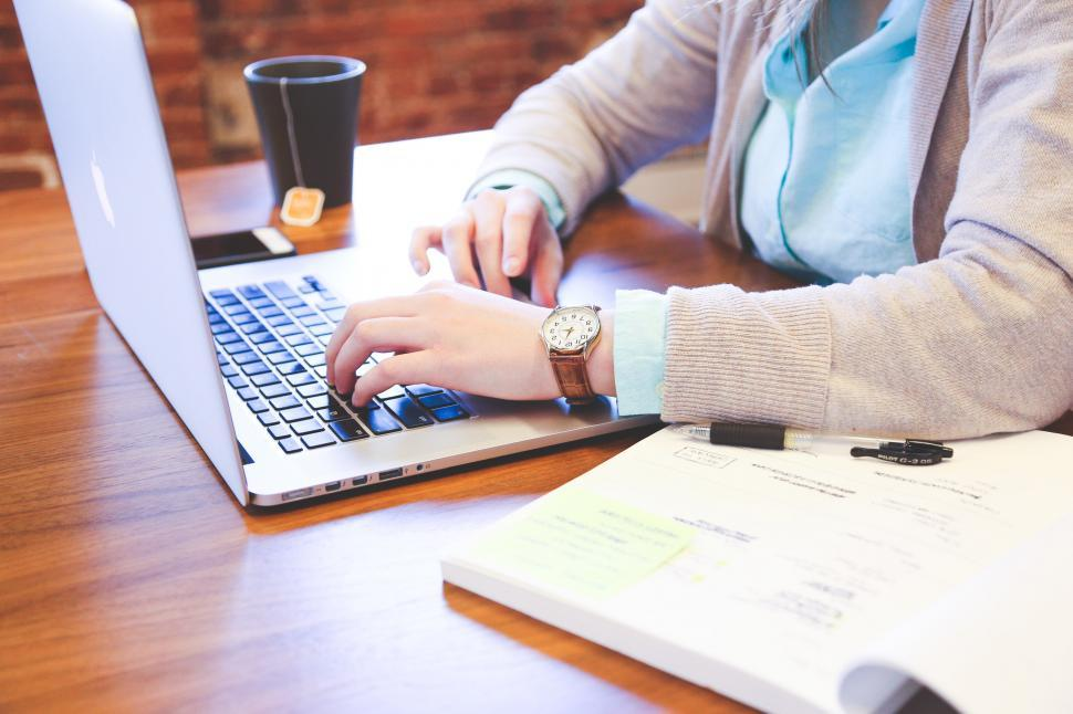 Download Free Stock Photo of At work on laptop
