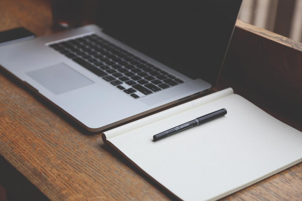 Download Free Stock HD Photo of Laptop, pen, pad Online