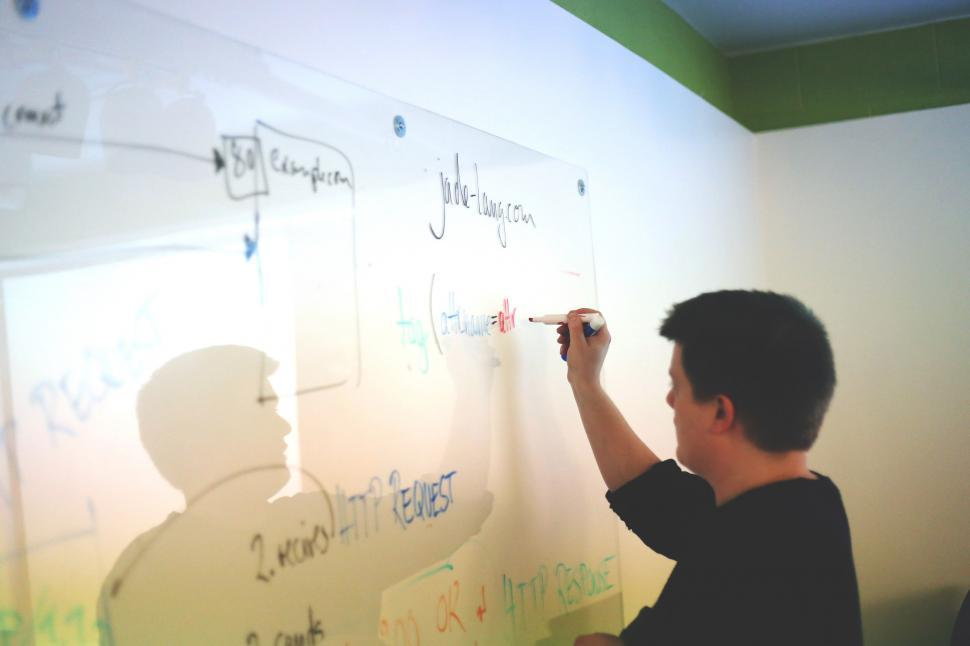 Download Free Stock Photo of Whiteboard work