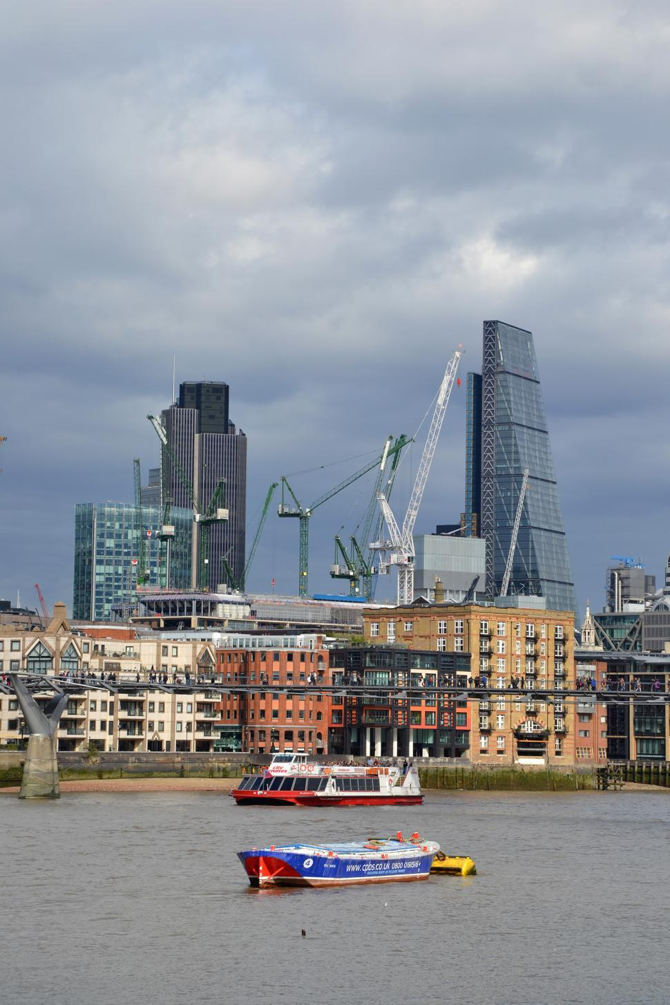 Download Free Stock HD Photo of London City and river Thames Online