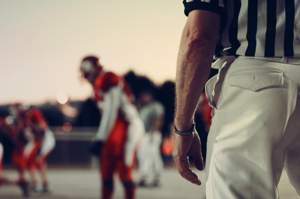 Download Free Stock Photo of Referee at a football game