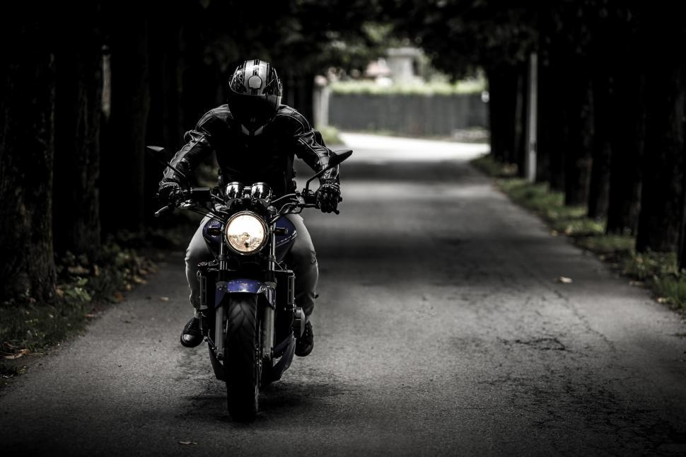 Download Free Stock HD Photo of Motor cyclist Online