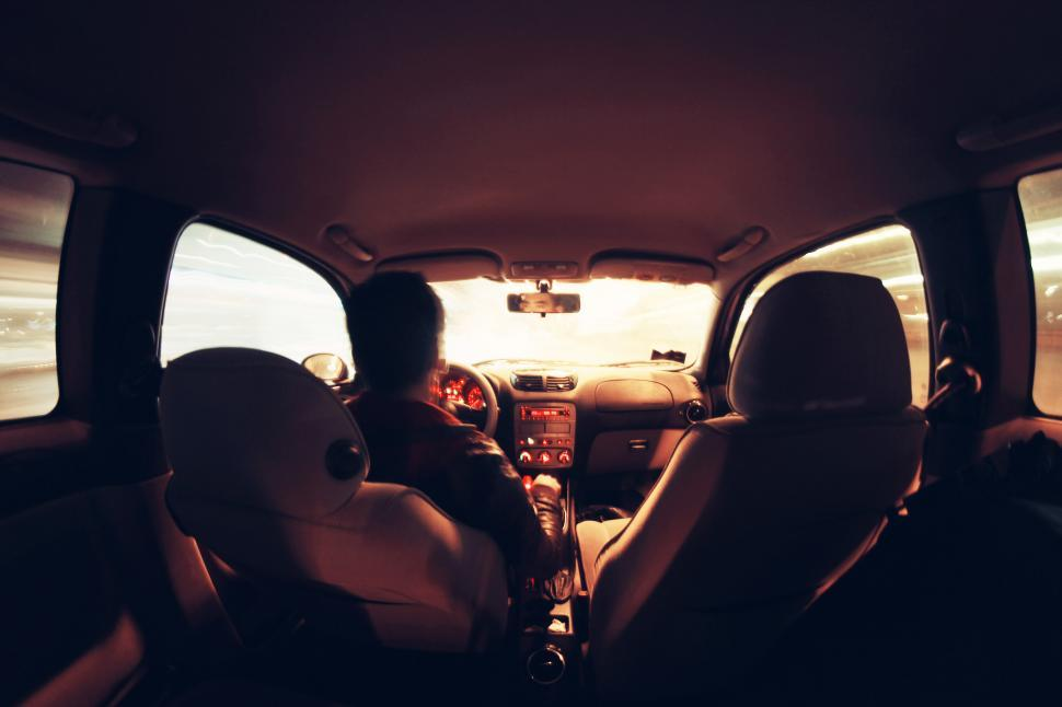 Download Free Stock HD Photo of Man driving a car Online