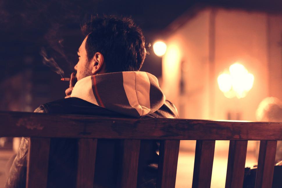 Download Free Stock Photo of Man smoking