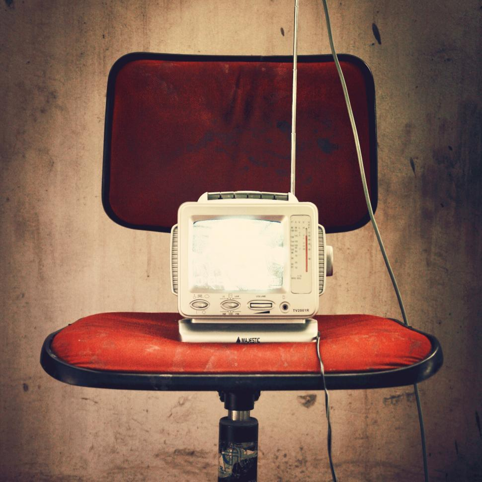 Download Free Stock HD Photo of A vintage small portable television set Online