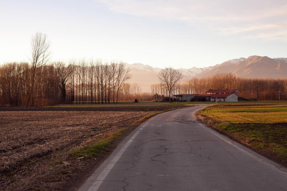Download Free Stock HD Photo of A rural highway Online