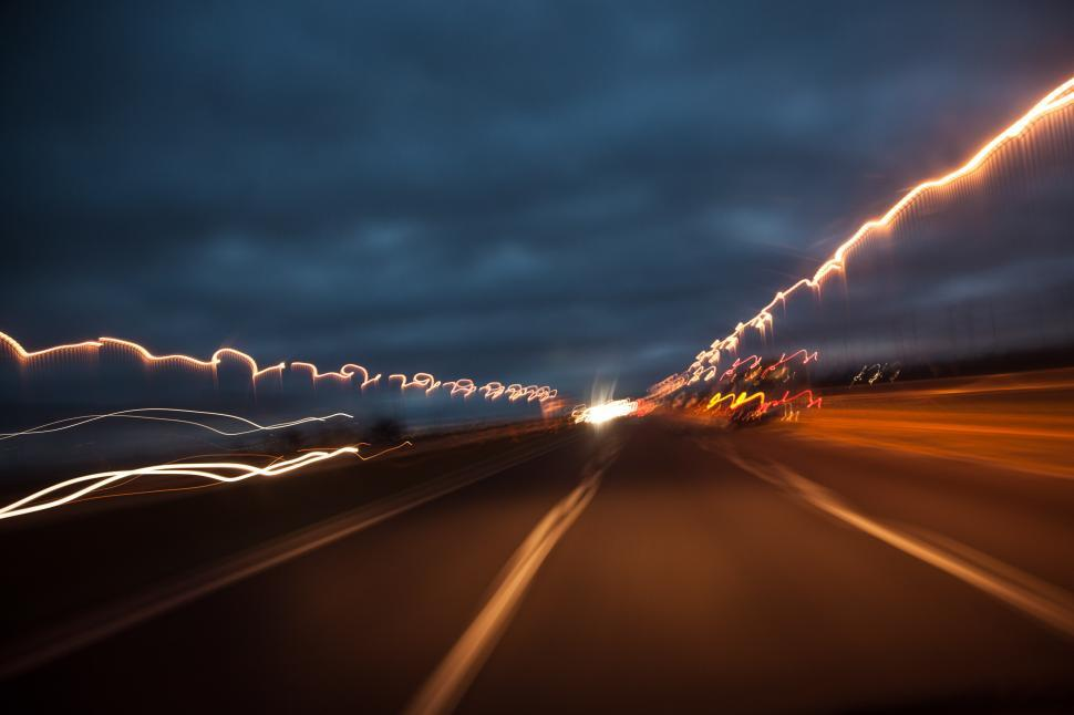 Download Free Stock HD Photo of Light trails on a highway  Online