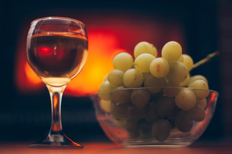 Download Free Stock HD Photo of Wine and Grapes Online
