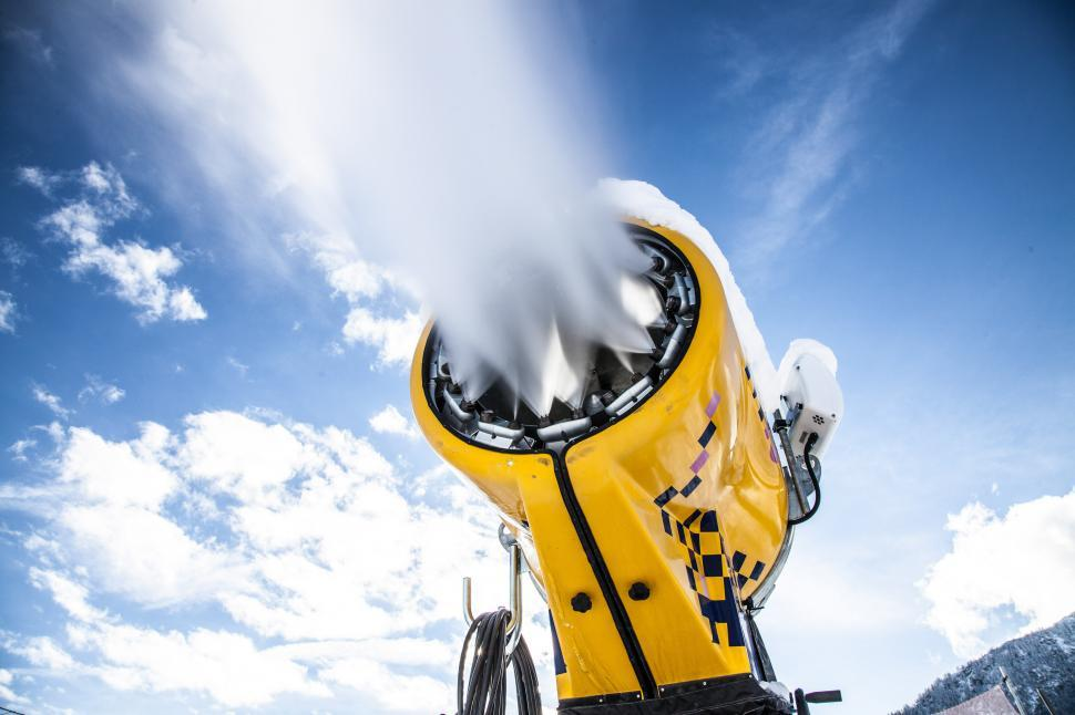 Download Free Stock Photo of Snow machine in action