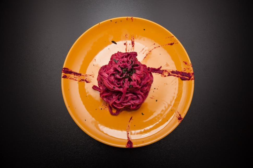 Download Free Stock HD Photo of Beetroot colored fresh pasta Online
