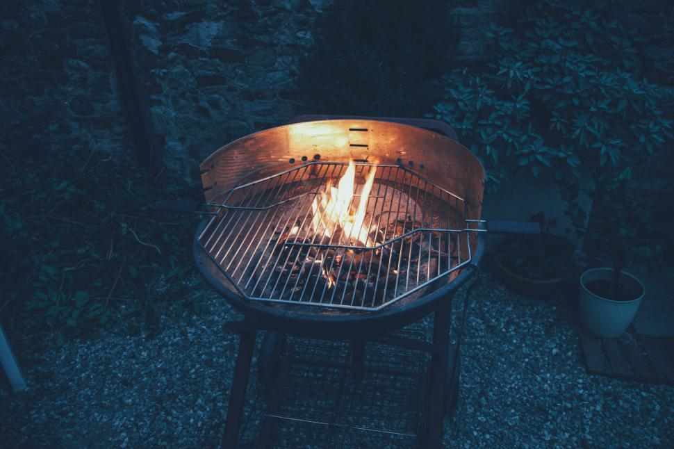 Download Free Stock Photo of Empty fired barbecue grill
