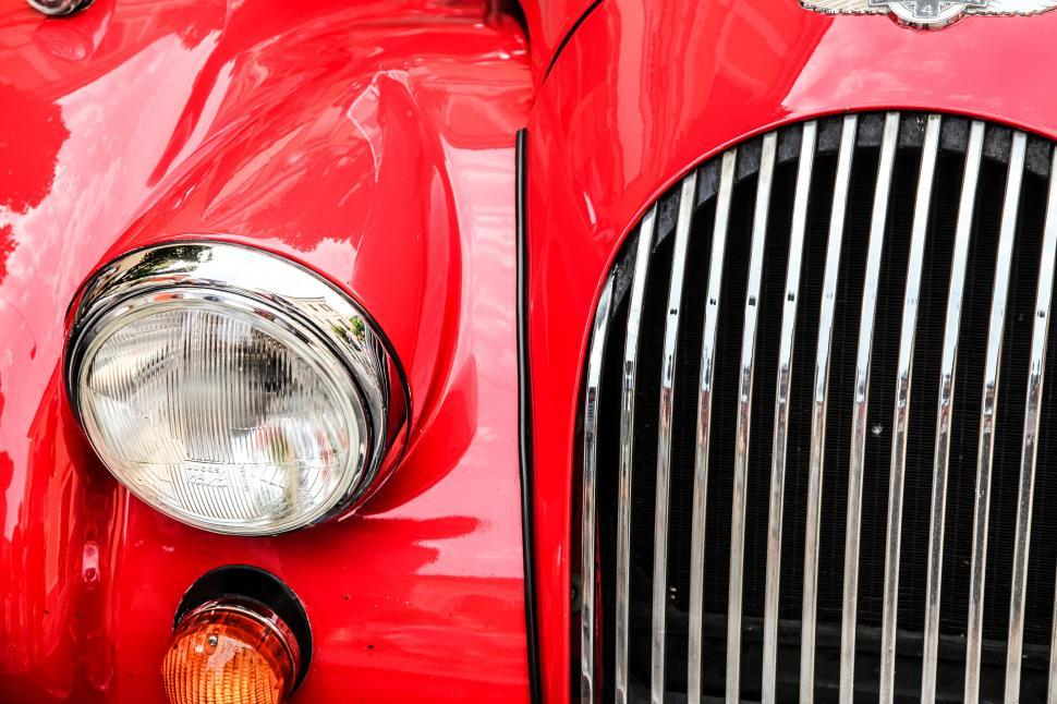 Download Free Stock HD Photo of Headlight of a vintage car Online