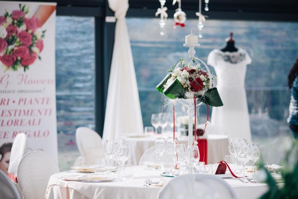 Download Free Stock HD Photo of Table setting at a luxury wedding reception Online