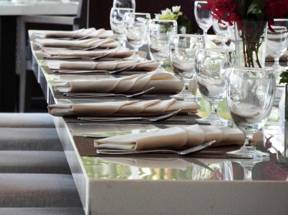 Download Free Stock Photo of Restaurant Fine Dining Table