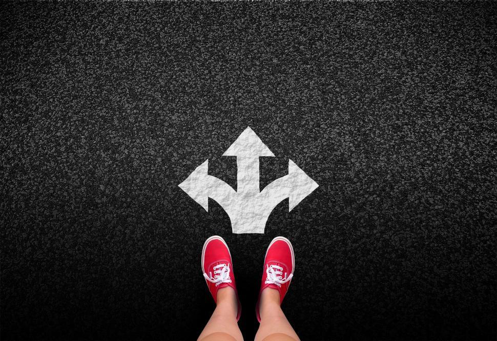 Download Free Stock Photo of At a crossroads - Decisions and choices concept