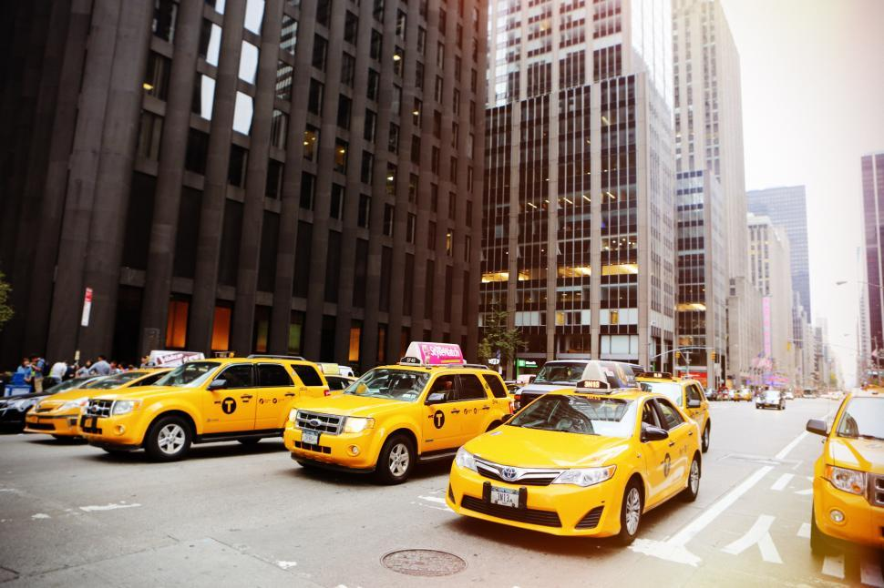 Download Free Stock HD Photo of Taxis in NYC Online