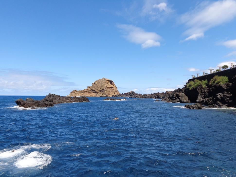 Download Free Stock Photo of Madeira natural swimming pool in ocean