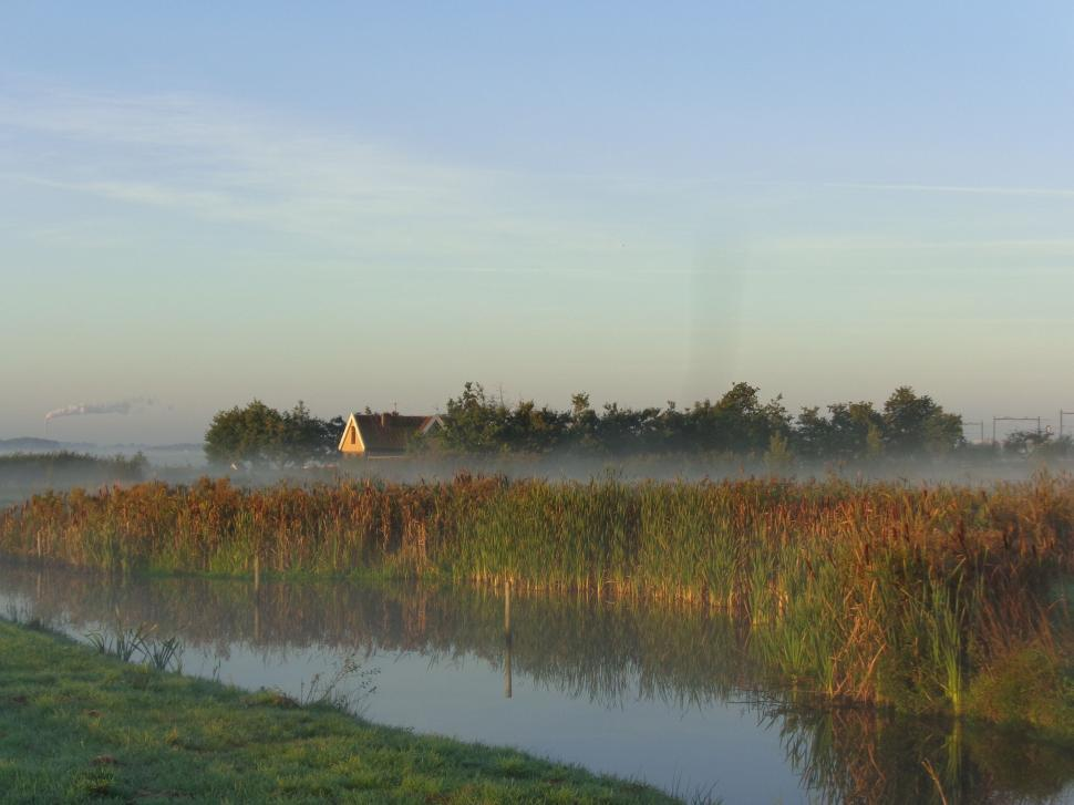 Download Free Stock HD Photo of Sunrise on marsh in the Netherlands  Online