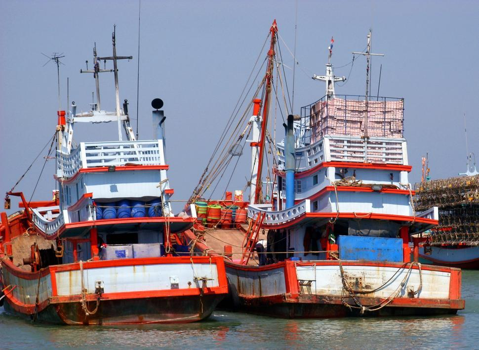 Download Free Stock Photo of Thai Fishing Boats