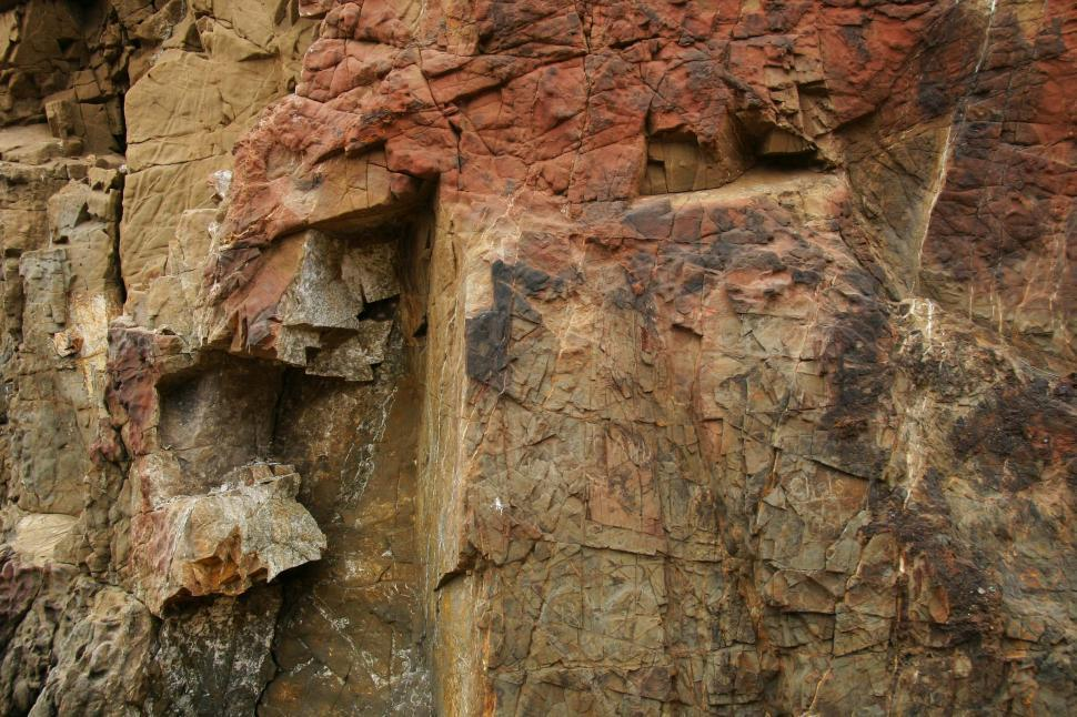 Download Free Stock Photo of Fractured rocks