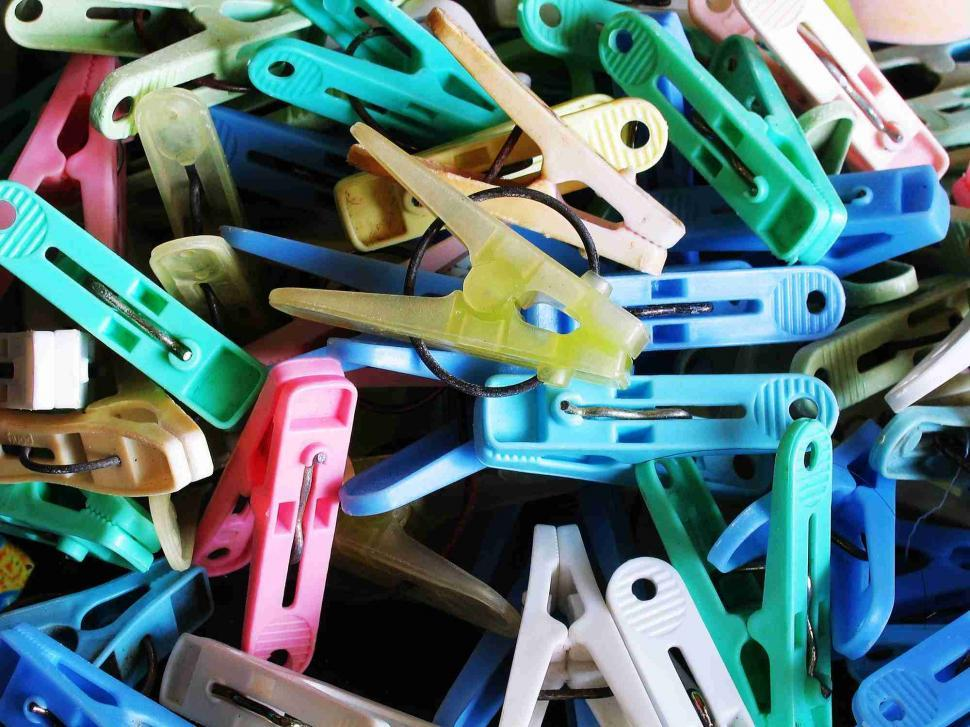 Download Free Stock Photo of Cloth clippers - Clothespins