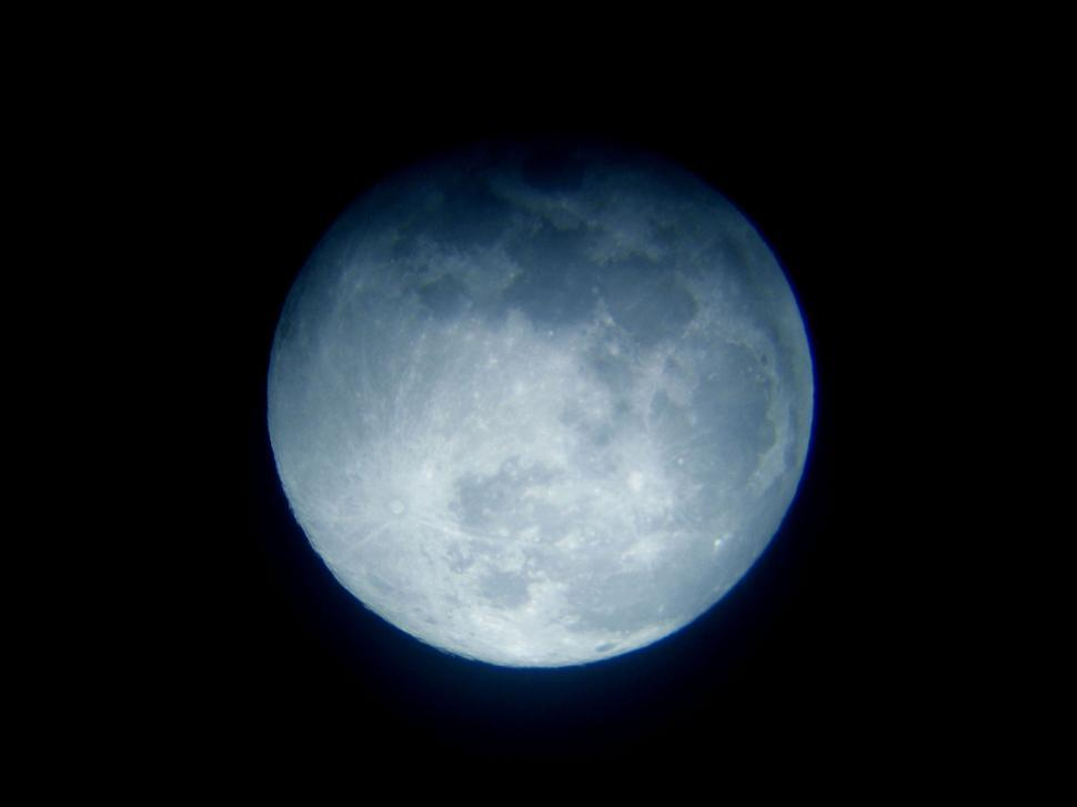 Download Free Stock Photo of Blue Moon