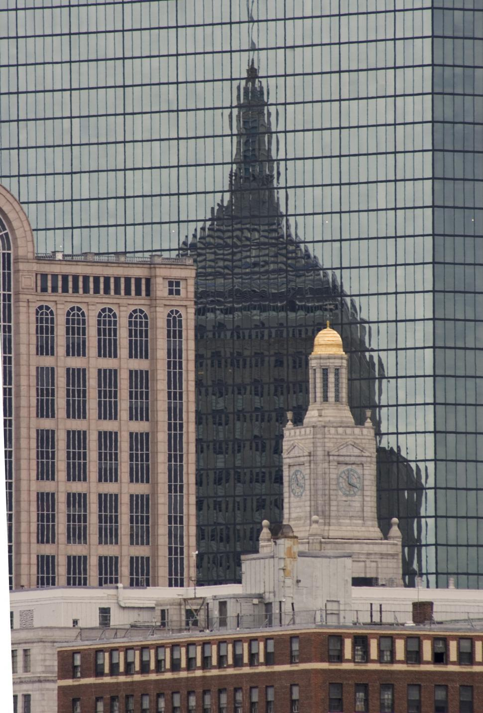 Download Free Stock Photo of Reflections in Downtown Boston