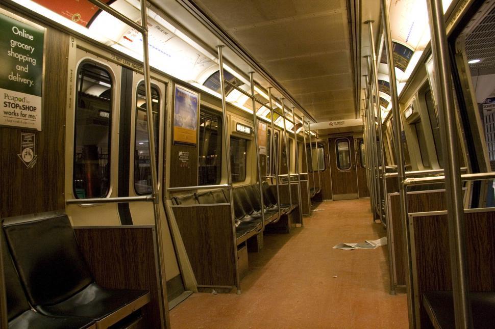 Download Free Stock Photo of Blue Line Rapid Transit Car