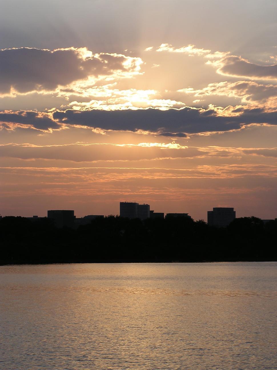 Download Free Stock Photo of Sunset in Washington DC