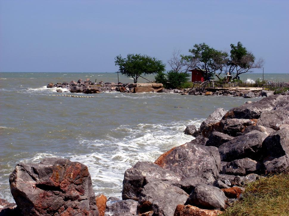 Download Free Stock HD Photo of Rocky coast Cha Am, Thailand  Online