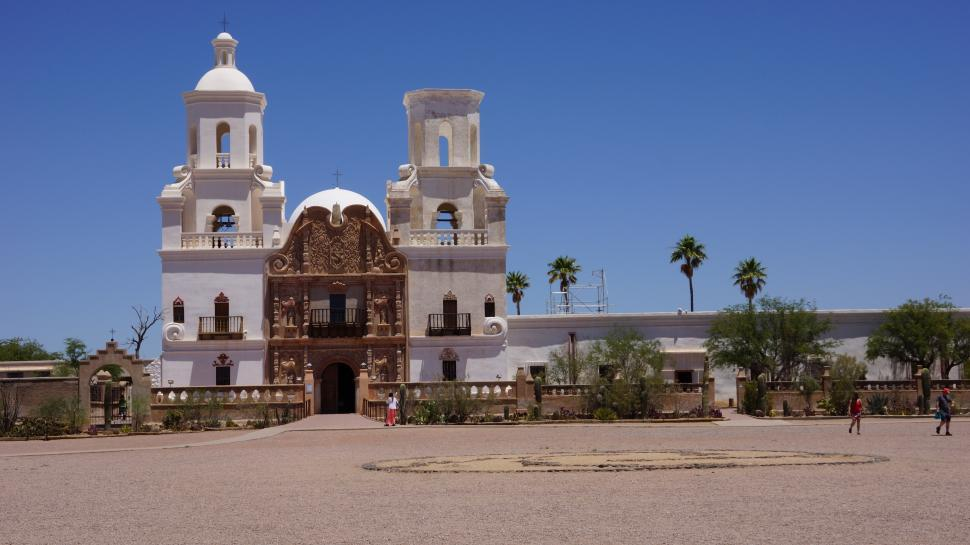 Download Free Stock HD Photo of San Xavier Mission Church  Online