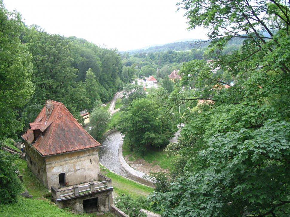 Download Free Stock Photo of Chesky Krumlov Castle View
