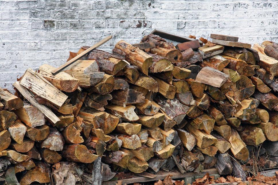 Download Free Stock Photo of Split Woodpile