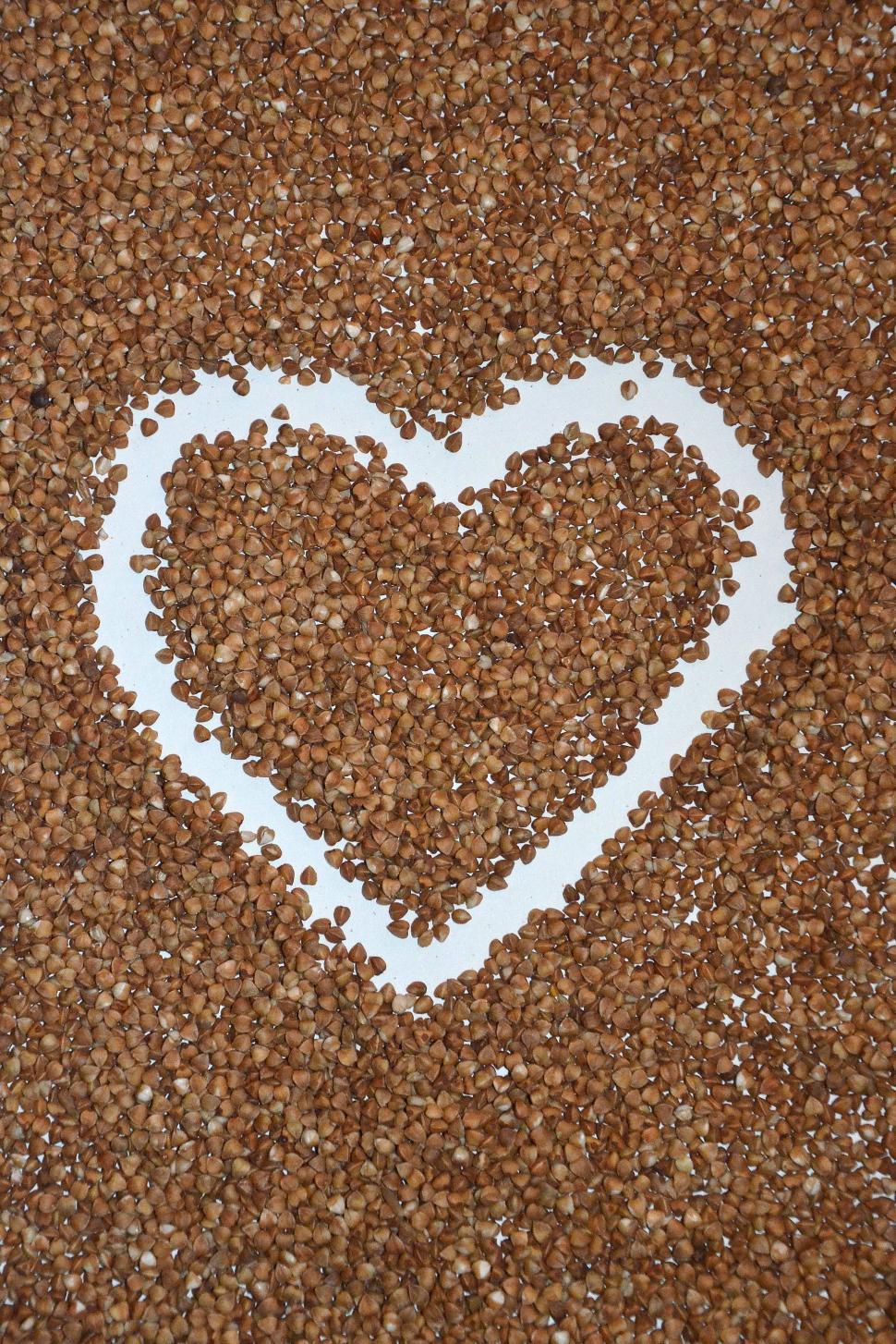 Download Free Stock HD Photo of Buckwheat heart.  Online