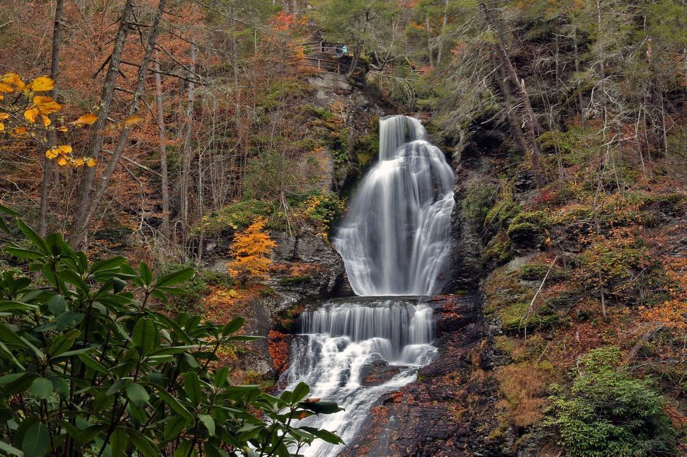 Download Free Stock Photo of Dingmans Falls at Dingmans Ferry Pennsylvania