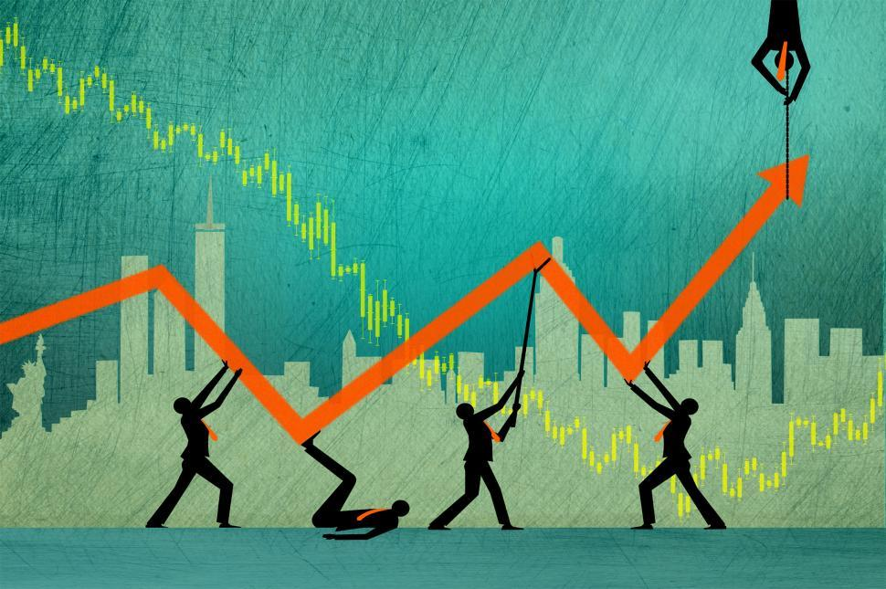 Download Free Stock Photo of The search for profit when markets are volatile