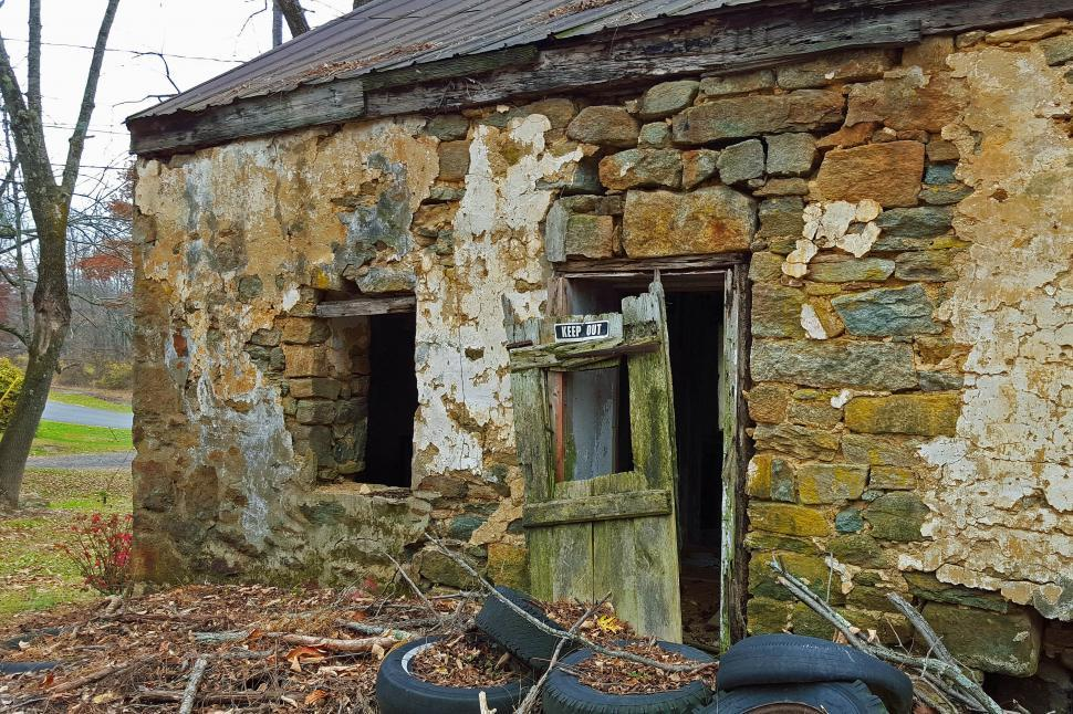 Download Free Stock HD Photo of Abandoned Ruin Of Old Stone House Online