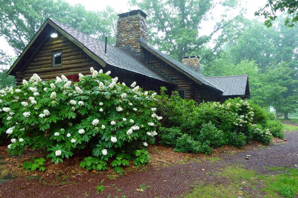 Download Free Stock HD Photo of Log Cabin At Rutgers Gardens  Online