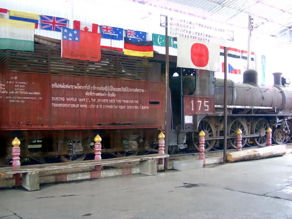 Download Free Stock HD Photo of WWII japanese Ammunitions train Online