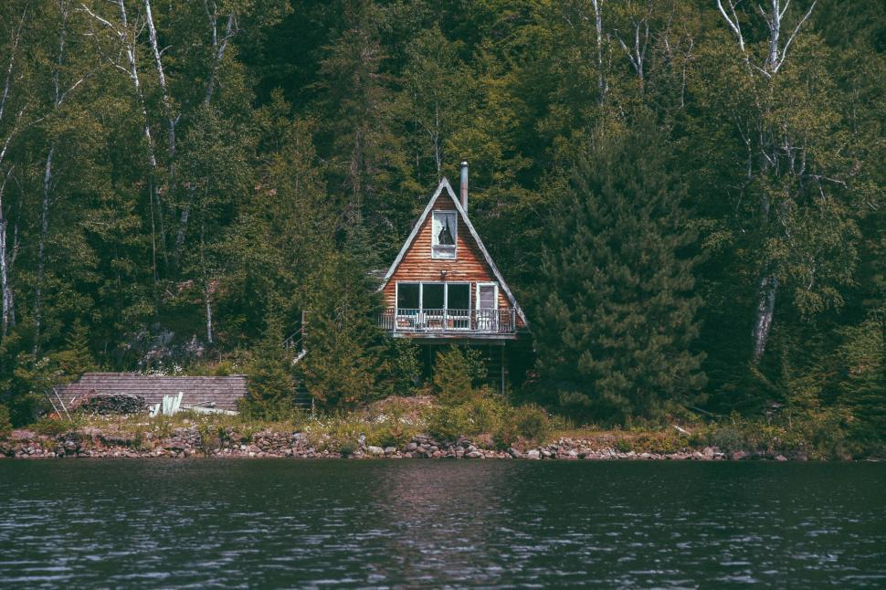 Download Free Stock Photo of shed boathouse outbuilding building structure church place of worship
